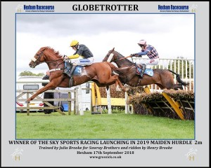 GLOBETROTTER Ridden by Henry Brooke wins at Hexham 17/9/18 Photograph by Grossick Racing Photography 0771 046 1723
